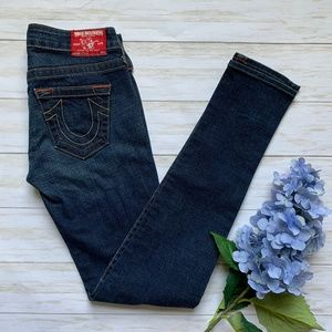 True Religion Dark Wash Stella Skinny Jeans